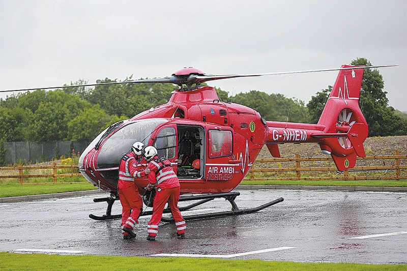 Over 40 per cent of air ambulance call outs have been in Co Down