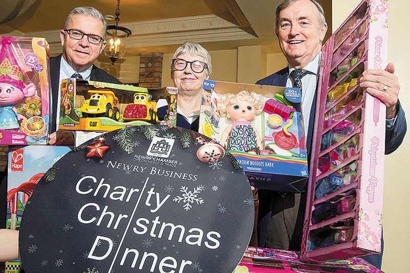 Help build a Toy Mountain at annual Business Charity Christmas Dinner