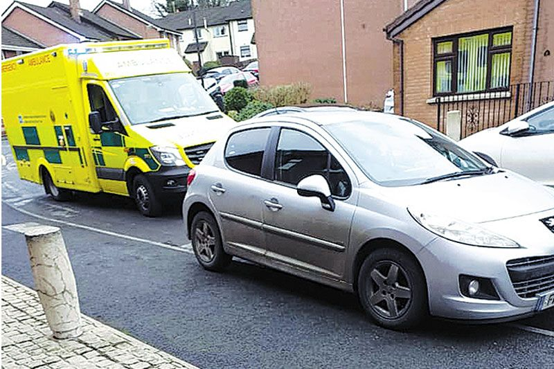 DfI commit to action after ambulance is blocked by vehicles