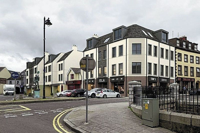 Apartment and shop plan for Newry City Centre