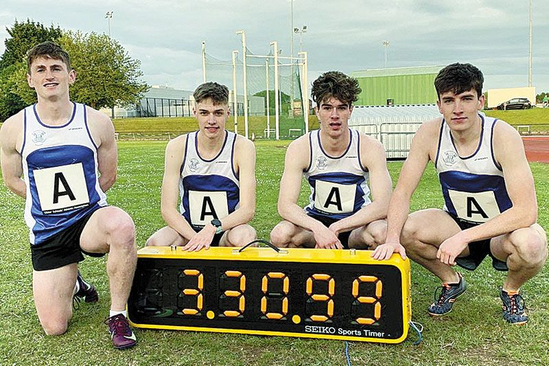 College runners sign off in style